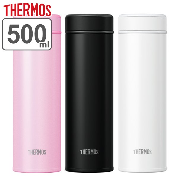 水筒ステンレスサーモスTHERMOSらくらく半回転オープン真空断熱ケータイマグ500mlJOG-500(保温保冷軽量スリムステン