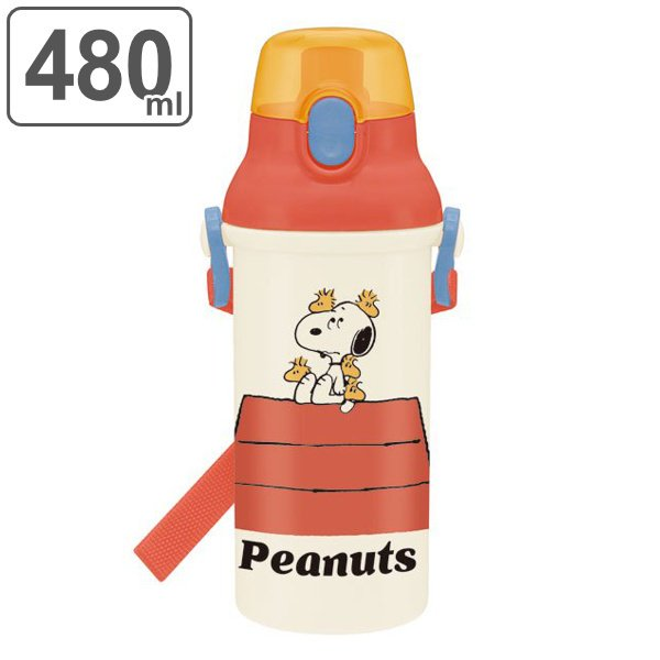 水筒 抗菌 プラスチック 直飲み PEANUTS スヌーピー レトロ 軽量 480ml キッズ ( SNOOPY 食洗機対応 直のみ すいとう 子供 )