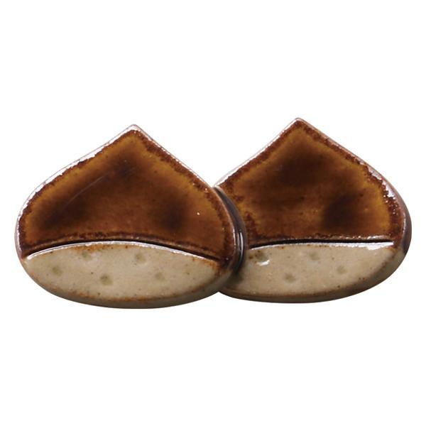 箸置き 6cm くり 栗 陶器 日本製 ( 箸置 カトラリーレスト 陶器製 箸休め カトラリー置き )