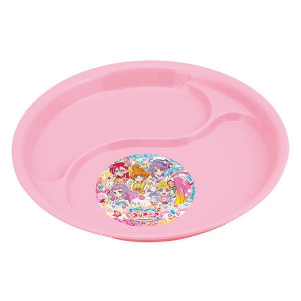 ランチプレート ランチ皿 トロピカル〜ジュ!プリキュア 子供用 食器 キャラクター 日本製 ( プリキュア トロピカルージュ 仕切り皿 プラスチック )