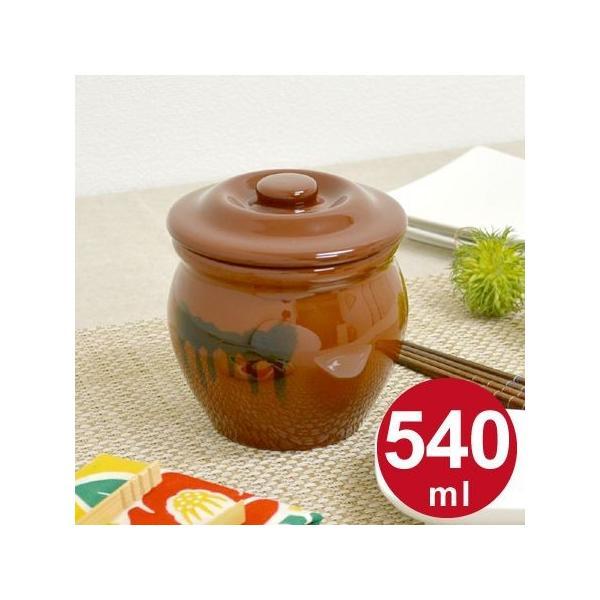 漬物容器 ミニ壺 0.54L 蓋付 陶器 ( 漬物樽 つけもの容器 漬け物容器 )