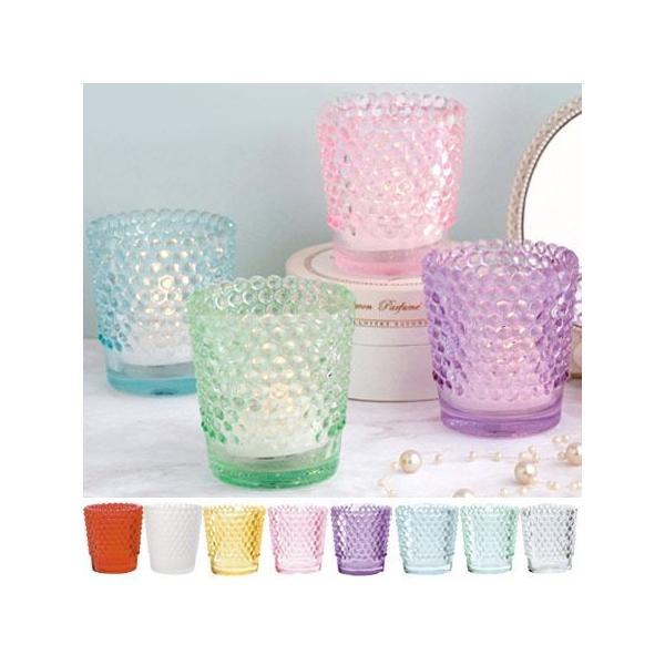 キャンドルホルダー キャンドルグラス ガラス製 ホビネルグラス ( キャンドルスタンド ろうそく立て アロマ 香り キャンドル )