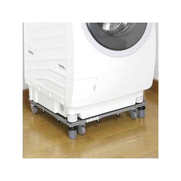 新洗濯機スライド台 洗濯機置き台 キャスター付 ( 洗濯機 移動 台車 ランドリー )