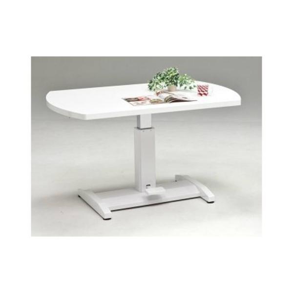 幅120センチ昇降テーブル リフトアップテーブル ペダル式 油圧シリンダー エナメル塗装 オーク突板 台湾製