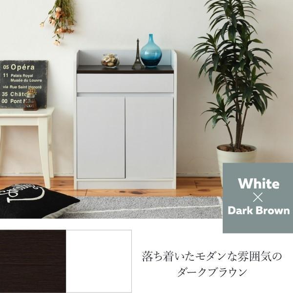 キャビネット 引き出し付き 幅60 薄型 木製|interiorcafe|11