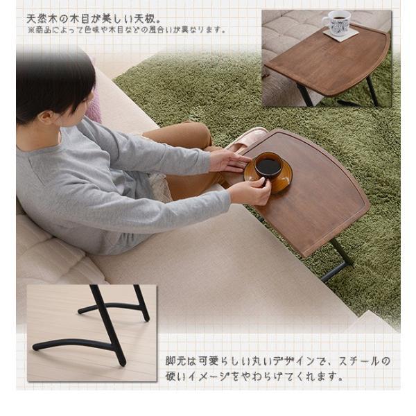 サイドテーブル ソファサイド ベッドサイド ビンテージシリーズ スクエア 木製 スチール レトロ おしゃれ 可愛い シンプル インテリアカフェ|interiorcafe|03