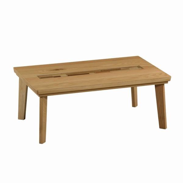こたつテーブル 120 こたつ 長方形 本体 おしゃれ リビングテーブル 木製 日本製 ローテーブル モダン 無垢 コタツ