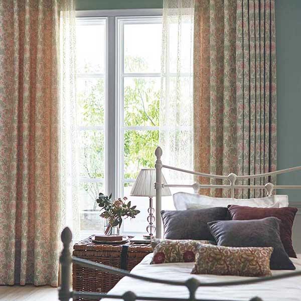 オーダーカーテン 縫製カーテン 川島セルコン 高級 filo ケンティッシュローズシアー FF4553 filo スタンダードオーダーレース 2倍ヒダ