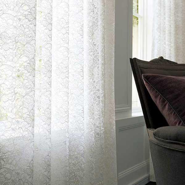 川島セルコン 高級オーダーカーテン filo スタンダード縫製 2倍ヒダ Morris Design Studio 2020 いちご泥棒シアー FR FF1508・1509