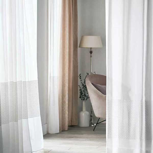 オーダーカーテン ヌーベース FF4630〜FF4632 filo縫製 オーダーレース 2.3倍ヒダ ヨコ使い・ウェイトテープ付