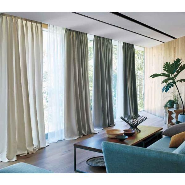 カーテン シェード 川島織物セルコン PLAIN FT6321〜6328 ソフトウェーブ縫製 約2倍ヒダ|interiorkataoka|03