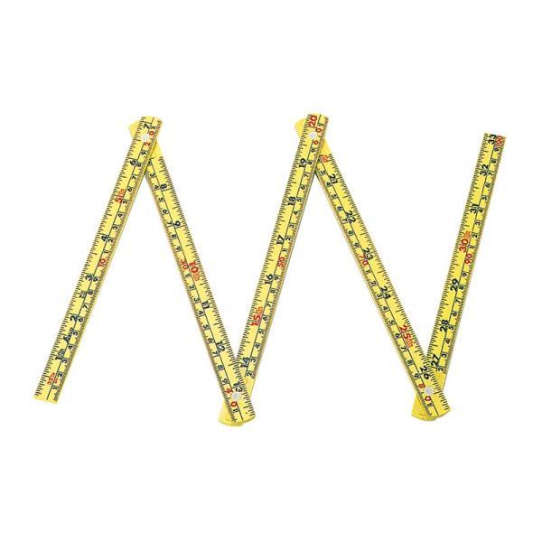 シンワ ファイバー折尺 5折 1m 併用目盛 78623