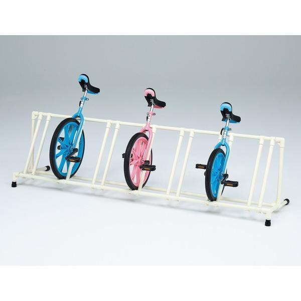 トーエイライト 一輪車ラックYZ7 片面7台掛 T-1802 幅212×奥行51×高さ54.5cm