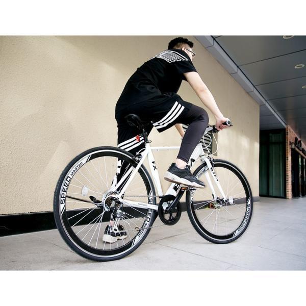 クロスバイク 自転車 3色 ディープリム 700C シマノ製7段ギア 一年安心保障 送料無料 PL保険付|iofficejp|04