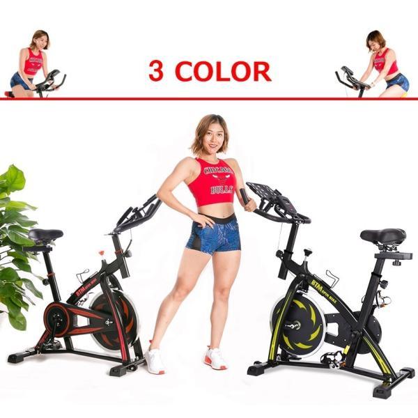 スピンバイク フィットネスバイク フライホイール 10kg 静音 家庭用 室内用 1年安心保証 本格トレーニング ルームランナー エアロバイク|iofficejp|02