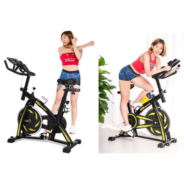 スピンバイク フィットネスバイク フライホイール 10kg 静音 家庭用 室内用 1年安心保証 本格トレーニング ルームランナー エアロバイク|iofficejp|15