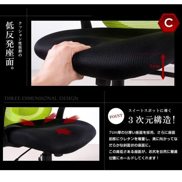 【1000円OFF】オフィスチェア メッシュ パソコンチェアー チェア 事務椅子 いす 昇降機能 リクライニング 腰当て 肘付き 耐久性抜群 送料無料 iofficejp 12
