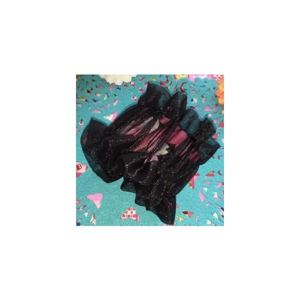 黒・シースルー(ラメ花)