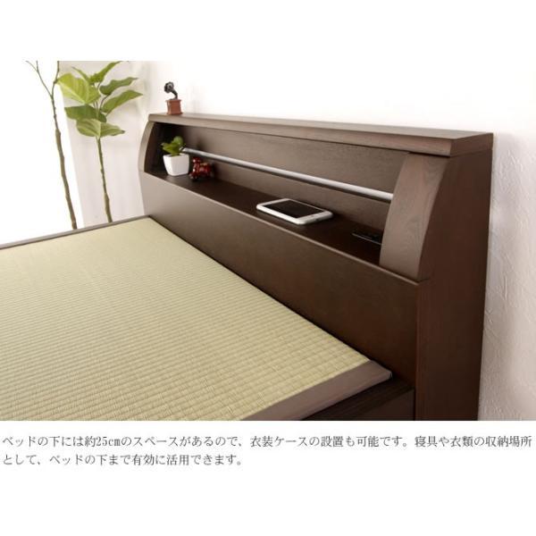 畳ベッド 天音  セミダブル  NA(ナチュラル) BR(ブラウン) DB(ダークブラウン)  木製ベッド  セミダブルベッド  国産たたみ  すのこタイプ  フレームのみ|ioo|03