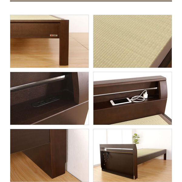 畳ベッド 天音  セミダブル  NA(ナチュラル) BR(ブラウン) DB(ダークブラウン)  木製ベッド  セミダブルベッド  国産たたみ  すのこタイプ  フレームのみ|ioo|04