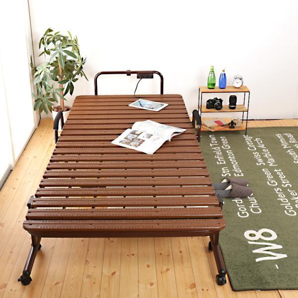 折りたたみすのこベッド シングル ハイタイプ 折りたたみベッド 樹脂すのこ Vindar2  防カビ 湿気対策 簡易ベッド ioo 11