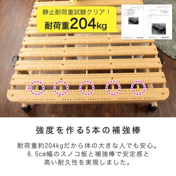折りたたみすのこベッド シングル ハイタイプ 折りたたみベッド 樹脂すのこ Vindar2  防カビ 湿気対策 簡易ベッド ioo 08