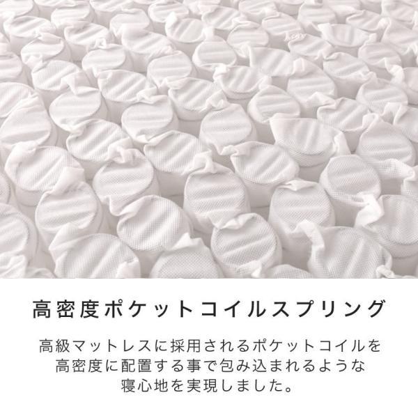 高密度ポケットコイルマットレス セミダブル ioo 03