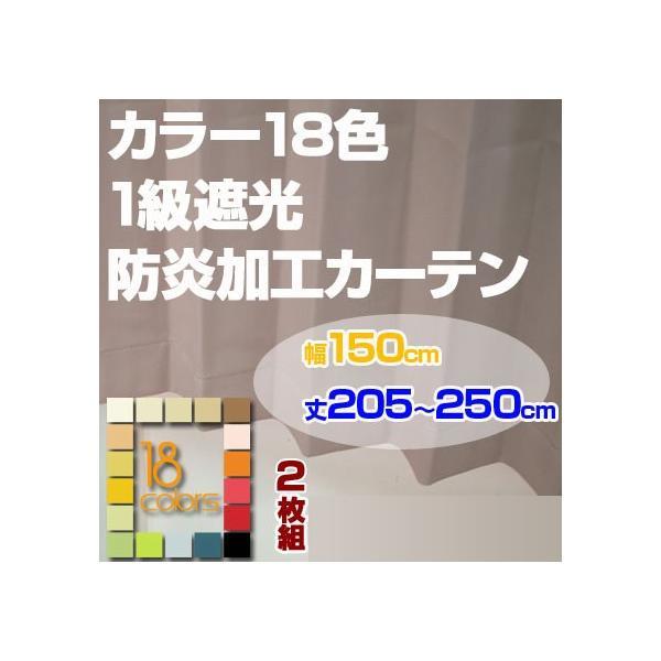 カーテン 1級遮光 防炎加工 ドレープカーテン「レイナ」幅150cm×2枚組 丈205-250cmまで5cm刻み ioo