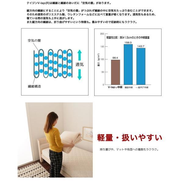 8/24〜8/26プレミアム会員10%OFF! テイジン V-Lap(R)ベッドパッド シングル(100×200cm)  綿ニット 敷きパッド 軽量|ioo|07