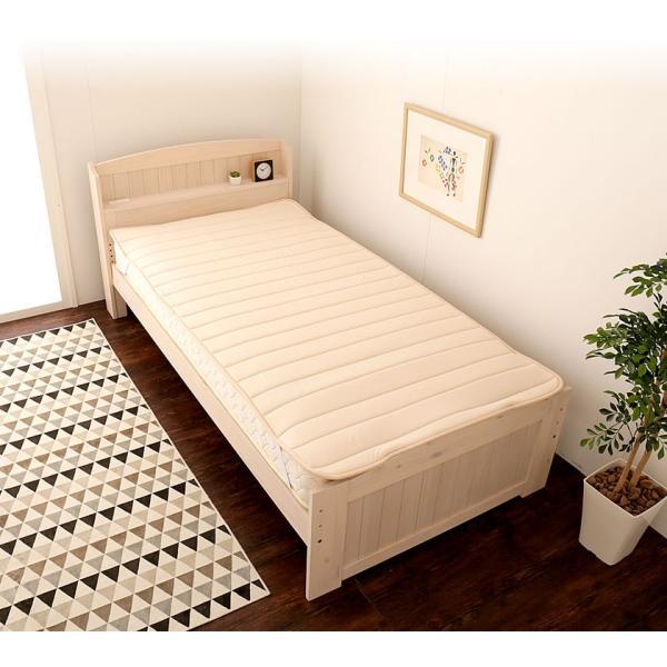 8/24〜8/26プレミアム会員10%OFF! テイジン V-Lap(R)ベッドパッド シングル(100×200cm)  綿ニット 敷きパッド 軽量|ioo|08