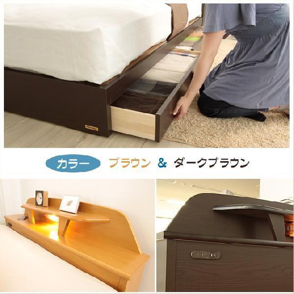 フランスベッド 収納付きベッド シングル マットレス付き 棚付き 宮付き 収納ベッド 引き出し付き 型番:XQ-210&MS-14 |ioo|03