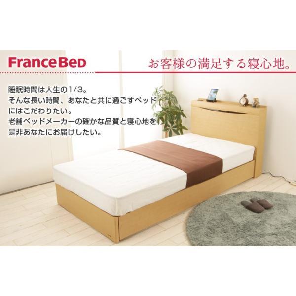フランスベッド 棚付き コンセント付き 照明付  SC フレームのみ 高さ22.5cm 日本製  セミダブル GR-03C ioo 04
