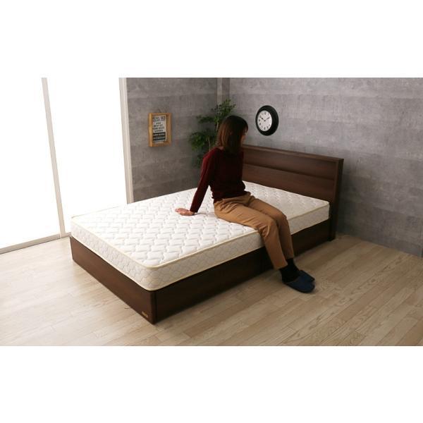 棚 コンセント 収納 ベッド シングル 引き出し 収納ベッド LED照明 すのこ 日本製 フランスベッド マットレス付き マルチラス|ioo|05