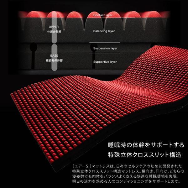 東京西川 エアー マットレス AIR-SI セミダブル ウレタンマットレス ノンスプリング ベッドマット ioo 02