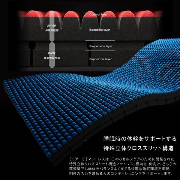 東京西川 エアー マットレス ハード AIR-SI-H シングル ウレタンマットレス ノンスプリング ベッドマット ioo 02