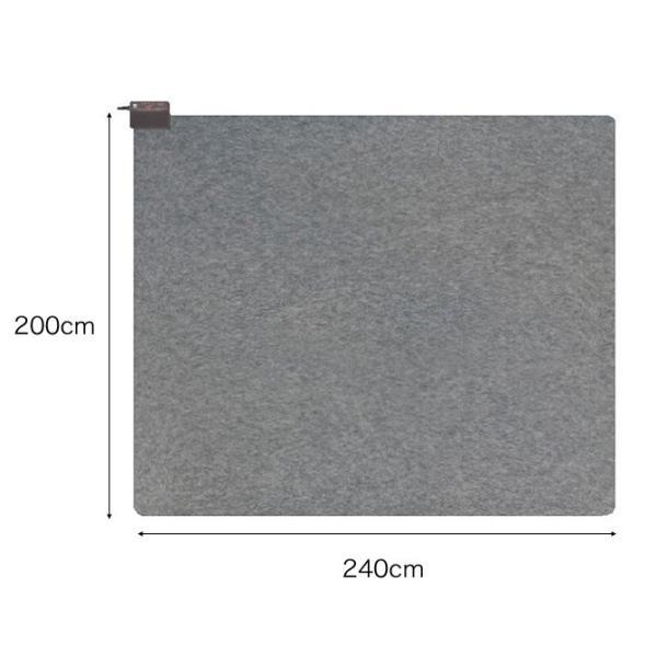 ホットカーペット 3畳 カバー ブラウン 長方形 電磁波99%カット 省電力 暖房面2面切替運転 電力1/2運転 切り忘れ防止タイマー すべり止め加工 ダニ対策機能