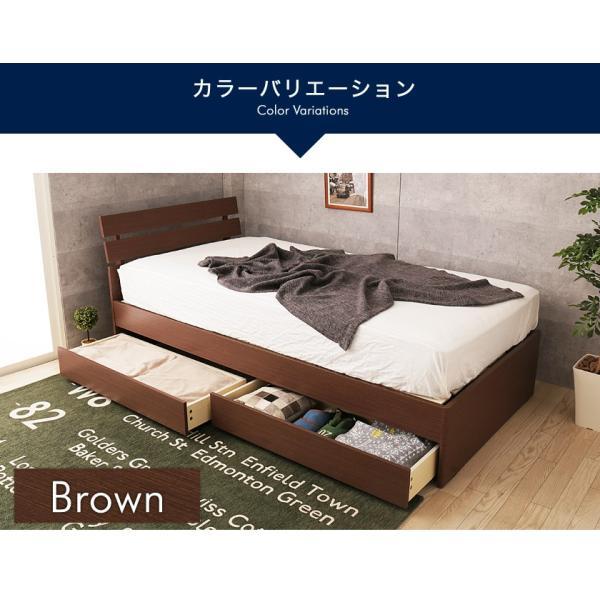 引き出し付きベッド シングル 木製 収納ベッド すのこベッド 2層ポケットコイルマットレス付き パネルベッド スリム|ioo|11