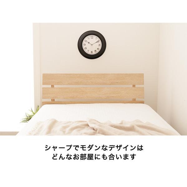 すのこベッド シングル 木製 シングルベッド 耐荷重150kg マルチラススプリングマットレス付き パネルベッド スリム|ioo|05