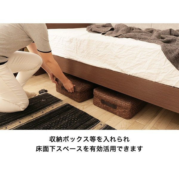 すのこベッド シングル 木製 シングルベッド 耐荷重150kg マルチラススプリングマットレス付き パネルベッド スリム|ioo|07
