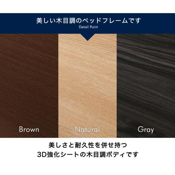 すのこベッド シングル 木製 シングルベッド 耐荷重150kg マルチラススプリングマットレス付き パネルベッド スリム|ioo|09