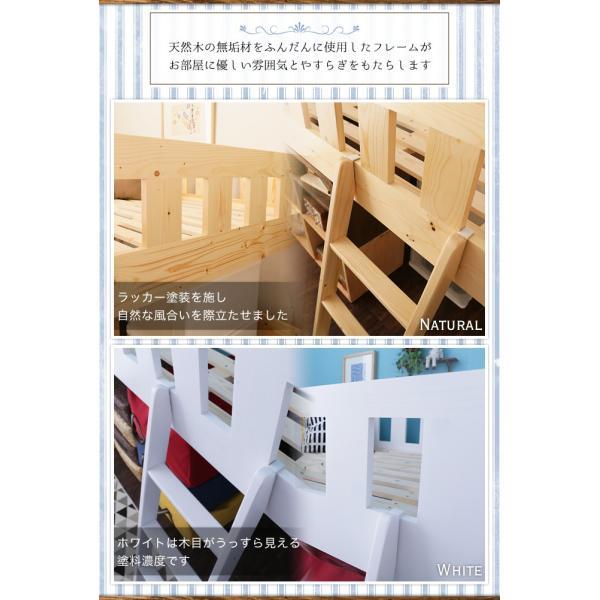 ロフトベッド シングル ミドル 木製 すのこ 棚付き 頑丈設計 頑丈なロフトベッド おしゃれ シングルサイズ ミドルタイプ ナチュラル 北欧|ioo|05