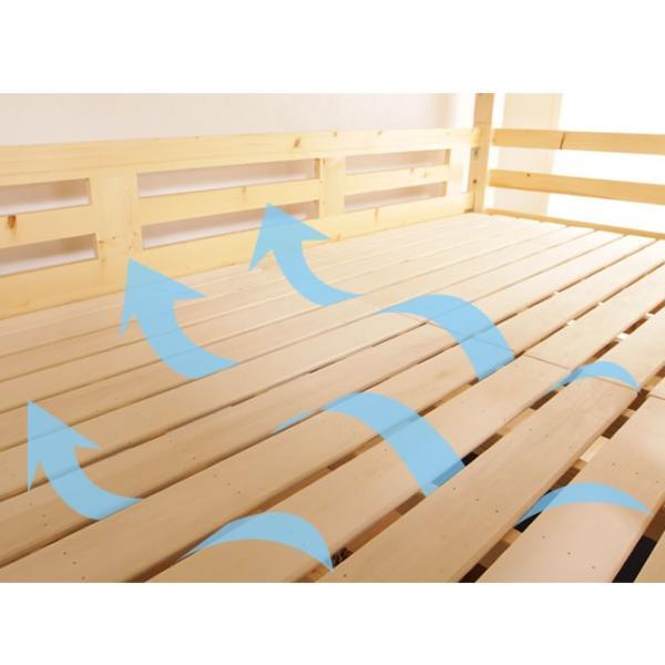 8/16〜8/20プレミアム会員5%OFF! ロフトベッド 木製ロフトベッド ミドルベッド シングル すのこベッド ベッドフレーム 高さ控えめ|ioo|04