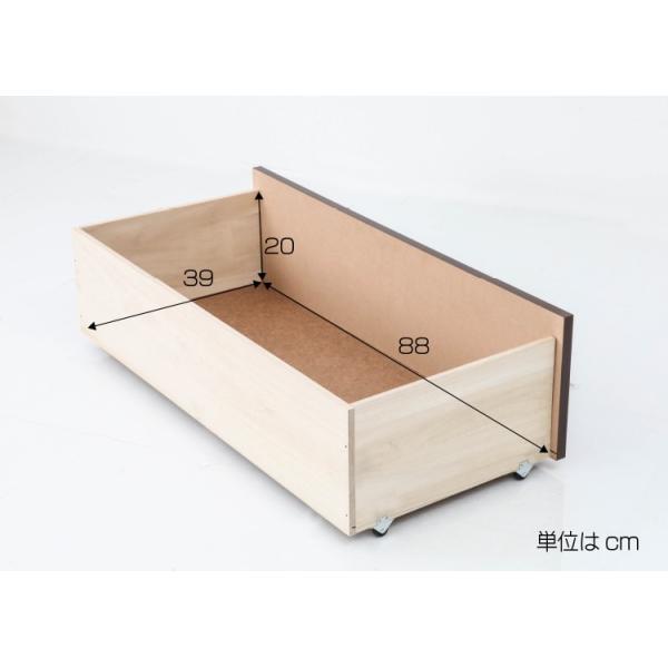 ベッド 畳ベッド 収納ベッド ダブル ハイタイプ 幅142×奥行208×高さ73.5(床面高42)cm ダークブラウン ライトブラウン 棚付き 照明付き キャスター付き 引出し|ioo|04