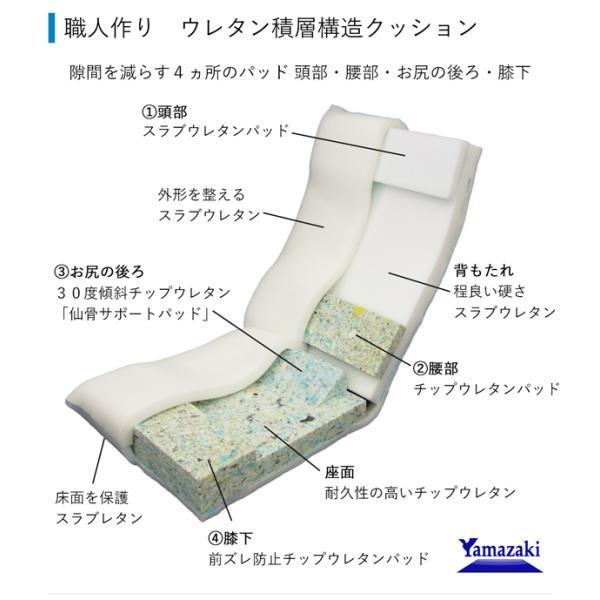 座椅子 座イス 座いす リクライニング 腰痛 日本製 コンパクト|ioo|05