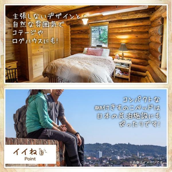 すのこベッド セミシングル ベッドフレーム 木製 北欧パイン材 耐荷重350kg 棚付き 簡単組立|ioo|14