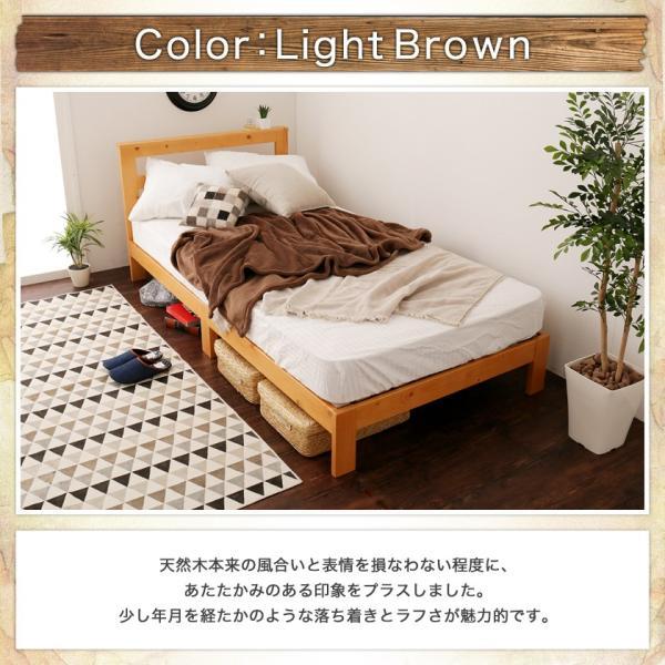 すのこベッド セミシングル ベッドフレーム 木製 北欧パイン材 耐荷重350kg 棚付き 簡単組立|ioo|16
