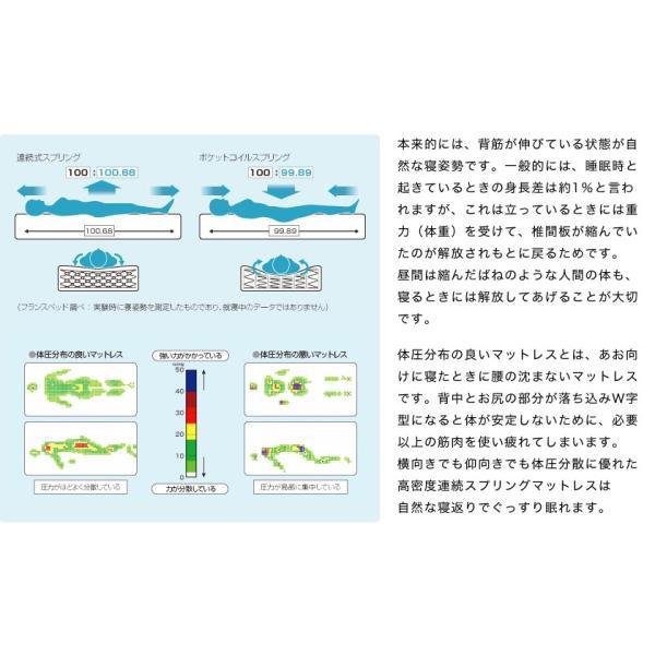 フランスベッド マットレス ダブル マルチラススーパースプリングマットレス 2年保証 XA-241 硬め 日本製 高密度連続スプリング|ioo|04