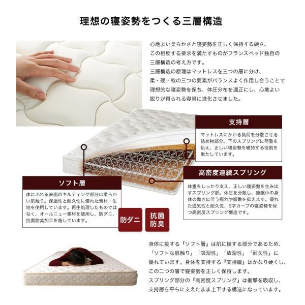 フランスベッド マットレス ダブル マルチラススーパースプリングマットレス 2年保証 XA-241 硬め 日本製 高密度連続スプリング|ioo|05