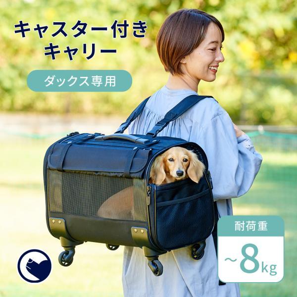 犬 猫 ねこ キャリー リュック ショルダー キャスター ブロッサムリュックキャリー ミニチュアダックス用|ip-plus