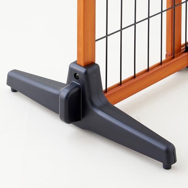 ペット ゲート 扉 脱走防止 柵 間仕切り ペットフェンス カールソン 木製ゲート S|ip-plus|04